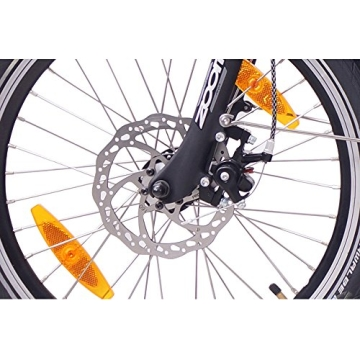 NCM PARIS 20 Zoll Elektrofahrrad E-Faltrad E-Bike ALU 36V 250W Li-Ion Akku mit 13Ah SAMSUNG Zellen in Silber