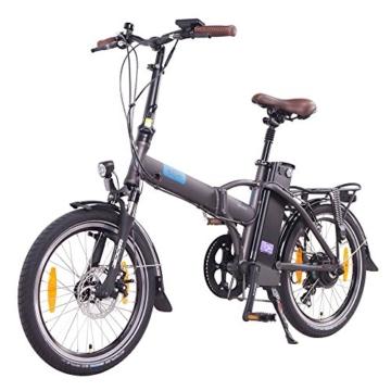 NCM London 2016, 20 Zoll Elektrofahrrad,E-Faltrad,E-Bike,Pedelec,Klapprad,36V 250W Bafang Motor, 36V Li-Ion Akku mit 14Ah PANASONIC Zellen,weiß,dunkel blau,schwarz,anthrazit (Anthrazit) -