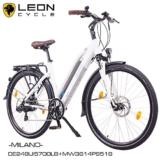 "NCM Milano 2016,28"" Zoll Elektrofahrrad Herren/Damen Unisex Pedelec,E-Bike,Trekking Rad, 36V 250W 14Ah Lithium-Ionen-Akku mit PANASONIC Zellen, matt weiß -"