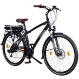 """NCM Hamburg 36V, 28 Zoll Elektrofahrrad, Herren & Damen Pedelec, E-Bike City Rad, 13Ah 468Wh Lithium-Ionen-Akku & 250W Bafang Heckmotor, mit mechanischen Scheibenbremsen (Schwarz 28"""") -"""