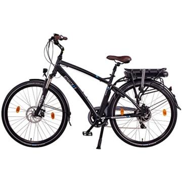 NCM Hamburg 36V, 28 Zoll Elektrofahrrad, Herren & Damen Pedelec, E-Bike City Rad, 13Ah 468Wh Lithium-Ionen-Akku & 250W Bafang Heckmotor, mit mechanischen Scheibenbremsen (Schwarz 28