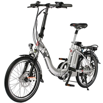 e bike elektro faltrad asviva b13 silber mit 36v 15 6ah. Black Bedroom Furniture Sets. Home Design Ideas