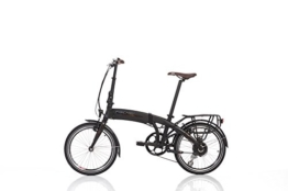 "Fischer E-Bike Faltrad, Schwarz, 20"", Hinterradmotor 36 V/317 Wh, Shimano-Schaltung, rahmenintegrierter Akku - 1"