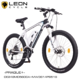 "NCM Prague+  26"" E-MTB,Mountainbike,E-Bike,36V 14Ah Panasonic Akku,matt weiß"